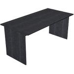 Bureau droit Artexport Easy Select 120 x 80 x 74 cm Imitation frêne noir