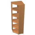 Angle de bibliothèque 84 (L) x 65 (l) x 19,6 (H) cm Imitation Noyer