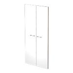 Portes pour bibliothèque Artexport Zen 72 x 145 cm Blanc