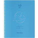 Semainier à spirale  Linicolor 2018 1 Semaine sur 2 pages 22,5 (H) x 18,5 (l) cm Bleu