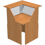 Comptoir à angle 90° Artexport Musa 76 (L) x 76 (P) x 117 (H) cm Imitation aulne