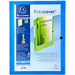 Boites de classement à pression Exacompta Krea Cover 40 mm 32 (H) x 24 (l) cm Bleu