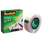 6 rouleaux de ruban adhésif invisible   Scotch®   Magic   19 mm x 33 m