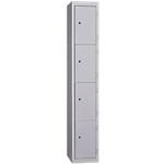 Vestiaire de bureau monobloc EVP 4 cases 30 (L) x 50 (l) x 180 (H) cm Gris