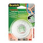 Ruban de fixation double face   Scotch®   Extra fort   19 mm x 1,5 m   Usage intérieur
