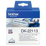 Étiquettes Brother DK 22113 62mm (l) Transparent   1 Rouleau