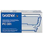 Kit composé d'une cartouche + un ruban encreur   Brother   PC301   noir