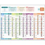 Calendrier bancaire horizontale Avec carte européenne 12 mois au recto 43 x 55 cm