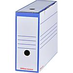 Boîtes archives à montage automatique Office Depot 100 mm 24,5 (H) x 9,2 (l) cm Bleu   Paquet 25 Boîtes