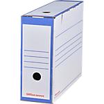Boîtes archives Office Depot 24,5 (H) x 10 (l) cm Bleu