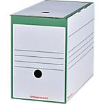 Boîtes archives à montage automatique Office Depot 167 mm 24,5 (H) x 15,9 (l) cm Vert   25