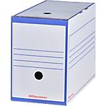 Boîtes archives à montage automatique Office Depot 167 mm 24,5 (H) x 15,9 (l) cm Bleu   25