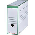 Boîtes archives à montage automatique Office Depot 100 mm 24,5 (H) x 9,2 (l) cm Vert   Paquet 25 Boîtes