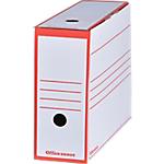 Boîtes archives à montage automatique Office Depot 100 mm 24,5 (H) x 9,2 (l) cm Rouge   Paquet 25 Boîtes