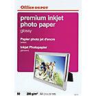 50 Feuilles de papier photo premium jet d'encre brillant   Office Depot   A4   280 g