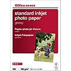 100 Feuilles de papier photo standard jet d'encre brillant   Office Depot   A4   180g