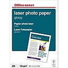 250 feuilles de papier photo laser brillant   Office Depot   A4   135 g