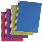 Cahier Linicolor   Clairefontaine   A5   Petits carreaux   100 pages double spirales   Coloris assortis