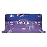 25 DVD+R   Verbatim   4,7 Go   vitesse 16x   boitier spindle
