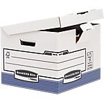 10 conteneurs cube recyclés pour boîtes archives   Fellowes   Flip Top Box