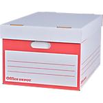 Container pour boites archives Office Depot 25,3 (H) x 51 (l) x 35,3 (P) cm 100% carton recyclé Blanc   Coloris : Blanc