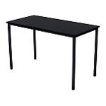Table rectangulaire multi usages   plateau noir frêne