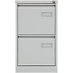 Classeur à 2 tiroirs monobloc   coloris gris   L.41,3 x P.62,2 x H.71,1 cm