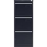 Classeur à 3 tiroirs monobloc   coloris noir   L.41,3 x P.62,2 x H.101,6 cm