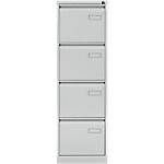 Classeur à 4 tiroirs monobloc   coloris gris   L.41,3 x P.62,2 x H.132,1 cm