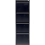 Classeur à 4 tiroirs monobloc   coloris noir   L.41,3 x P.62,2 x H.132,1 cm