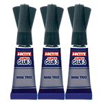 3 tubes de colle   Loctite   SuperGlue 3   Mini Trio   Liquide   1 g