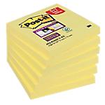 Notes adhésives Post it Super Sticky 76 (H)  x  76 (l) mm Jaune   6 blocs : 5 + 1 GRATUIT