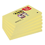 Notes adhésives Post it Super Sticky 76 (H)  x  127 (l) mm Jaune   6 blocs : 5 + 1 GRATUIT