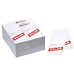 Étiquettes soldes APLI Signalétique promotionnelle Blanc et rouge   1000