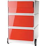 Caisson Mobile 4 tiroirs Paperflow EasyBox 64,2 (H) x 39 (l) x 43,6 (P) cm Rouge