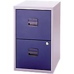 Classeurs 2 tiroirs pour dossiers suspendus   Bisley   bleu