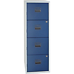 4 tiroirs pour dossiers suspendus   Bisley   bleu