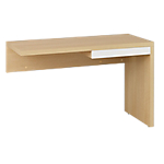 Retour direct pieds panneaux Gautier Office Sliver Blanc, imitation chêne 102 (L) x 45 (P) x 69 (H) cm