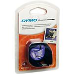 Ruban d'étiquettes DYMO Letratag 12mm (L) x 4m (l) Noir