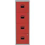 4 tiroirs pour dossiers suspendus   Bisley   rouge