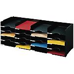 Bloc classeur 25 cases   Fast Paperflow   noir   112 x 30,4 x 31,3 cm