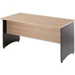 Table bureau pieds panneaux MT International Syracuse 180 (L) x 80 (P) x 76 (H) cm Anthracite, Imitation Hêtre