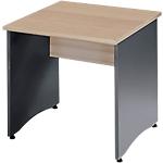 Table bureau Syracuse 80 (L) x 80 (P) x 76 (H) cm Anthracite, Imitation Hêtre