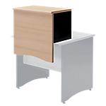 Surmeuble à poser sur table bureau pour former banque d'accueil  Syracuse 65 (L) x 40 (P) x 51 (H) cm Anthracite, Imitation Hêtre