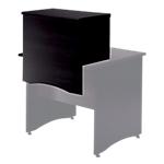 Surmeuble à poser sur table bureau 80 cm pour former banque d'accueil couleur noir frêne   Gamme Syracuse