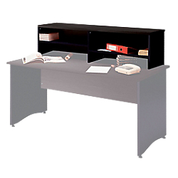 surmeuble a poser sur table bureau pour former banque d accueil mt international syracuse 146 l. Black Bedroom Furniture Sets. Home Design Ideas