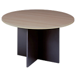 Table rond pied croix Ø 126 cm   Gamme Syracuse