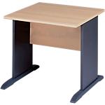 Table bureau pieds L MT International Syracuse 80 (L) x 80 (P) x 76 (H) cm Anthracite, Imitation Hêtre