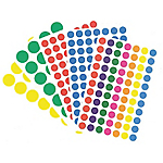 Pastilles adhésives APLI Apli Assortiment 140 étiquettes   140 Pastilles