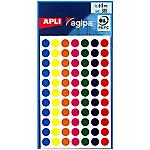 Pastilles adhésives APLI Apli Assortiment 385 étiquettes   385 Pastilles
